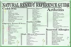 Natural Remedy Reference Guide Refrigerator Magnet ~ Green Tidings