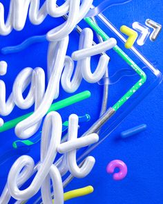 When Nothing Goes Right, Go Left // CG Typography on Behance