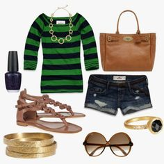 Green stripes.