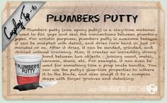 Cosplay Tip 6: Plumbers Putty by *Bllacksheep on deviantART