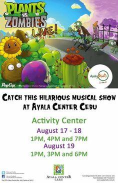 Plants VS. Zombies Musical Show Plants Vs Zombies, Activity Centers, Cebu, Musicals, Hilarious, Events, Activities, Happenings, Men's Fitness Tips