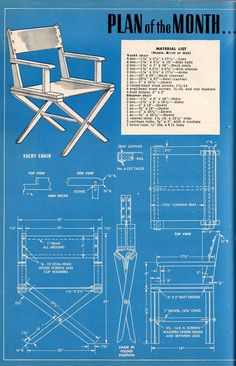 From Popular Mechanics magazine, May Wooden Lawn Chairs, Porch Chairs, Dining Chairs, Woodworking Furniture, Teds Woodworking, Woodworking Projects, Learn Woodworking, Woodworking Machinery, Wood Projects