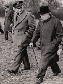 March 1944 - Eisenhower & Churchill