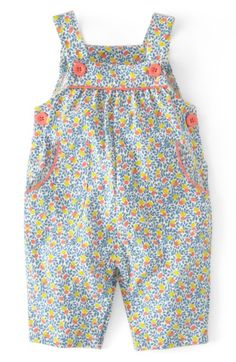 Main Image - Mini Boden Print Jersey Overalls (Baby Girls) Roupa Menininha 51dcd5c7c1e