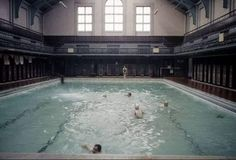 Dundee Baths where I used to paddle my feet at the side as I couldn't swim. Dundee City, Baths Interior, Historical Photos, Old Photos, Liverpool, Britain, Scotland, Tent, Swimming Pools
