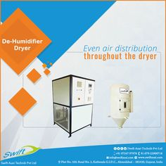 De-Humidifier Dryer by Swift Auxi Technik has the evenly distribution of air and heat for throughout drying operations in manufacturing concern.  #DEHumidifier #DEHumidifierManufacturers #DEHumidifiersuppliers #DEHumidifierTraders