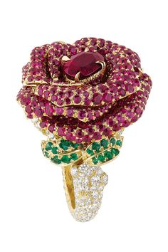 Dior rose ring--WAY over the top, but I'd probably wear this...