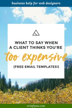 What do you when a potential client thinks you're too expensive? Here are three options you can use to deal with this tricky client situation!