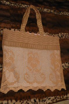 Crochet bag cotton bag beach bag bread bag summer bag