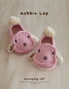 Rabbit Lop Baby Booties Crochet Pattern by Crochet Pattern Kittying from Kittying.com / Mulu.us , Garden Bootie PATTERNS, New Products, Safari Bootie PATTERNS. Tags: Animal Booties, Baby Bootie Crochet Pattern, Baby Booties Pattern, Baby Shoes Crochet Pattern, baby slip on shoe, booties pattern, Bunny Applique, Bunny Baby Booties, Bunny Baby Pattern, Bunny Baby Shoes, Bunny