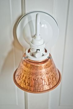53/8'' Unfinished Copper Cone Shade Wall by VintageLightsZone