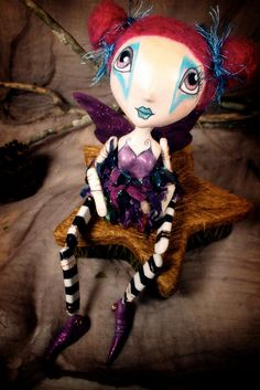 Sydney  Faerie of Happiness  OOAK Art Doll by darkfaerie on Etsy, $175.00