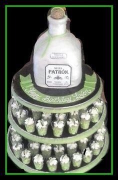 Patron Bottle Sandras Cakes Another Patron Bottle Cake Cakes - Patron birthday cake