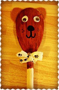 Teddy Bear Spoon Puppet