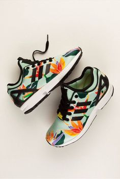Colorful running shoes