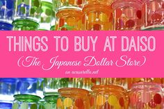 """'A Casarella: A visit to Daiso (The """"Japanese Dollar Store""""). This place is a mecca for craft supplies, party supplies, organizational supplies and more! Japanese Dollar Store, Japanese Store, Gumball Machine Halloween Costume, Daiso Store, Diy Arts And Crafts, Diy Crafts, Party Supplies, Craft Supplies, Craft Projects"""