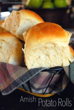 Amish Potato Rolls:  these are THE rolls you have been looking for.   The best dense, moist and chewy roll I've ever made!