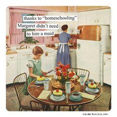 "Anne Taintor Magnet, ""homeschooling"" – ShopAtArtworks.com"