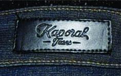 etiqueta de cintura para jeans Kaporal.