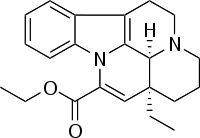 Vinpocetine.svg an extract from the lesser periwinkle plant.