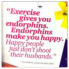 "Exercising is important ""Me Time"" for fitness, health and peace of mind!"