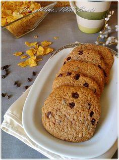 Biscotti Cornflakes con gocce di cioccolato