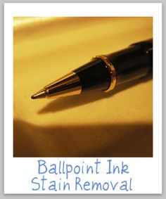 Ballpoint ink stain removal guide for clothing, upholstery and carpet {on Stain Removal 101}
