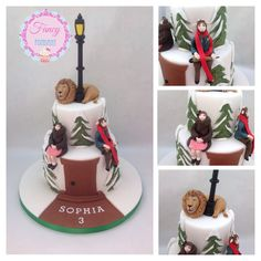 A Narnia Cake with fondant characters modelled from the TV series. Made by Fancy Fondant