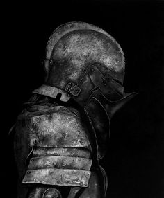 Medieval Armour, black and white, photography