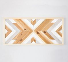 Reclaimed Tribal Wood Wall Art Geometric Sign by IvyandPineDesign