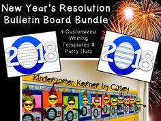 Ring in the New Year with your students by having them write about their New Year's resolutions! Choose from 4 customized writing templates to accommodate writers in kindergarten, 1st, or 2nd grade.