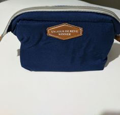 Cosmetic bags small make up health beauty blue travel cases #UnJourDeReve