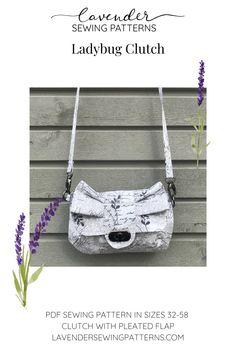 Pdf Sewing Patterns, Ladybug, Shoulder Strap, Lavender, Essentials, Butterfly, Pocket, Purses, Unique