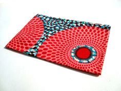 African wax print fat quarter 100% cotton (Teal and Pink)