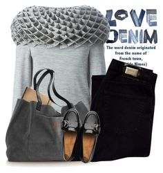 """""""Love Denim"""" by lacas ❤ liked on Polyvore featuring HUGO and FitFlop"""