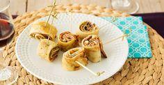 Recept voor Pannenkoek hapjes met ham en pesto