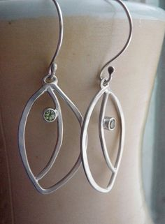 Love!  Peridot Leaf Dangle Earrings for Spring by ragandstone on Etsy.