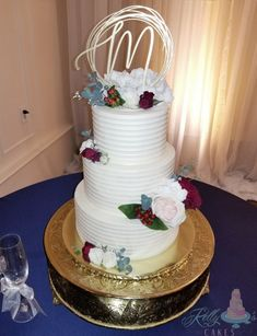 Beautifully textured buttercream with floral scents Buttercream Wedding Cake, Cake Recipes, Wedding Cakes, Floral, Desserts, Beauty, Food, Wedding Gown Cakes, Tailgate Desserts