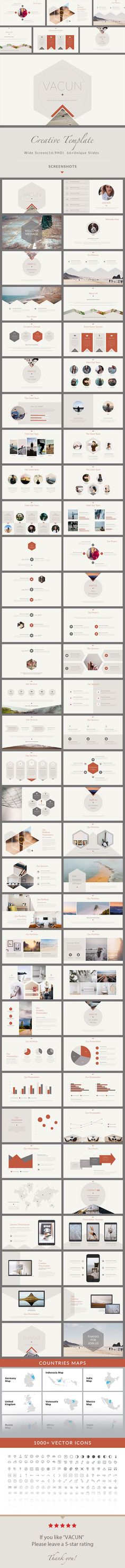 VACUN  Creative Keynote Presentation Template — Keynote KEY #infographic #retro • Available here ➝ https://graphicriver.net/item/vacun-creative-keynote-presentation-template/20865194?ref=pxcr