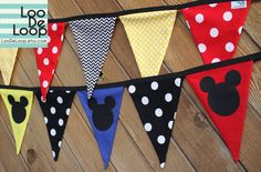 Meeska Mouska, its a Mickey Mouse party! Set of 2 Mickey Mouse Clubhouse Party Buntings by LooDeLoop Dulceros Mickey Mouse, Mickey Mouse Classroom, Mickey Mouse Clubhouse Birthday Party, Mickey Mouse Clubhouse Party, Mickey Birthday, Mickey Party, Mickey Mouse And Friends, 2nd Birthday Parties, Birthday Fun