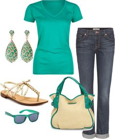 "Comfy outfit still made cute with accessories ""Summer"" by honeybee20 ❤ liked on Polyvore"