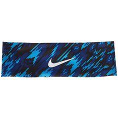 Nike Fury Headband 2.0 (Light Photo Blue/White) Athletic Sports... ($15) ❤ liked on Polyvore featuring accessories, hair accessories, sports headbands, nike headband, white headband, hair bands accessories and hair band headband