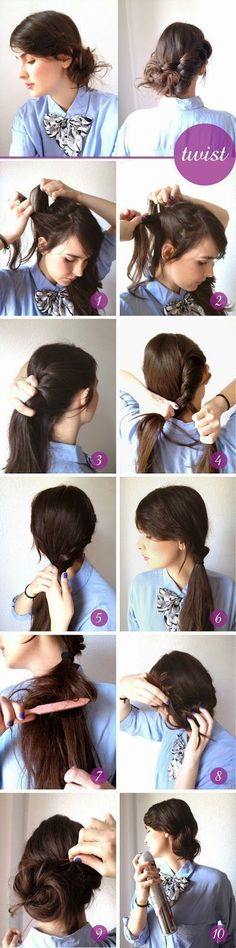 Stylish Beehive Hairstyle:DIY Braided Bun Hairstyle:Clear Twisted Updo:Double Sided Pony Updo:Twisted Low Bun Style:Perfect Simple Updo:Retro Updo:Simple Updo:Boho Crown Braid Hairstyle:French Braid Bun Hairstyle:DIY Waterfall Braided Bun Hairstyle: