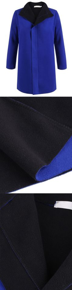 Women blue lapel coat turn down collar loose woolen outwear coats s34 truck tire changer #coats #3030 #coats #3030 #tire #machine #coats #310 #manual #tire #changer #coats #5060e