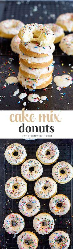 Cake Mix Donuts | JenniferMeyering.com