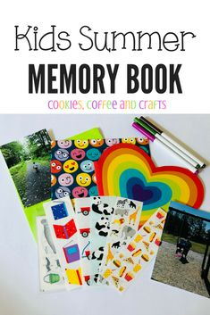 Create summer memories with your kids by creating a summer memory book filled with pictures from all the summer fun. Preschool Projects, Diy Crafts For Kids, Preschool Activities, Summer Fun List, Summer Kids, Create This Book, Summer Books, Summer Memories, Memory Books