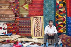 Seller of tapetes - Oaxaca de Juárez, Oaxaca, Mexico by Pipall, via Flickr