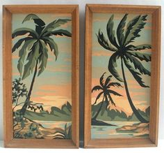 """1963 """"Tropic Lagoon"""" Paint-By-Number Painting Pair"""