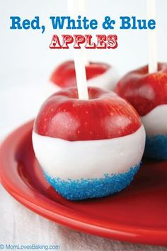 Memorial Day is coming up, so I wanted to make something festive for the holiday. Red, White and Blue Apples are the perfect patriotic treat. Even better, they're only 3 ingredients! Candy coated apples dipped in blue sprinkles. So cute, so easy and so yummy! They are also on the healthy side. Candy coated apples …