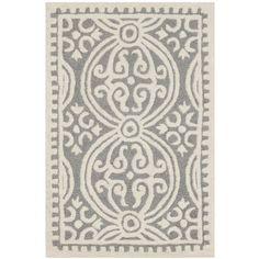 Alcott Hill Landen Silver/Ivory Area Rug Rug Size: 3' x 5'